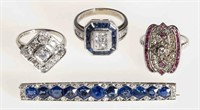 Selection of estate jewelry