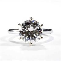 Estate-fresh high-grade 5.5 ct. diamond solitaire ring