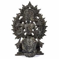 """Sino-Tibetan bronze Maitreya Buddha, 5 3/4"""" HOA"""