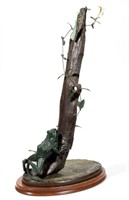 """Andre Harvey (American, b. 1941) bronze sculpture, from an edition of 60, titled  """"Scent of Honeysuckle"""", 25 ½"""" HOA"""