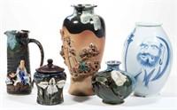 Japanese Sumida figural ceramics