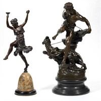 Selection of American and Continental bronze sculptures