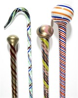 Colleciton of over 50 glass staffs and canes