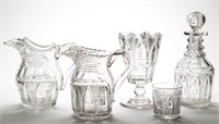 From a large collection of early cut glass