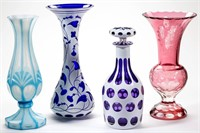 Good selection of cut overlay and opaline