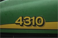John Deere 4310 (diesel, 31hp, 430 loader, Qwick attach, remote outlets, turf tires, Curtis cab) Image 3 of 5