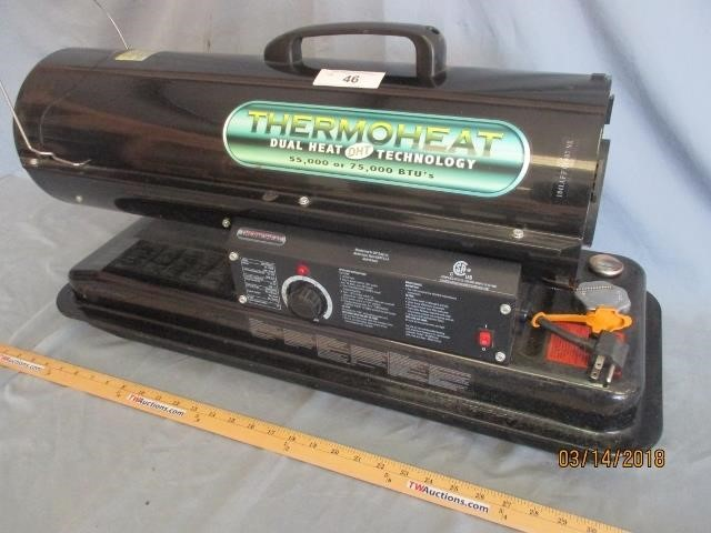 Thermoheat 55000 To 75000 Btu Shop Heater Terry Waters Auctioneering
