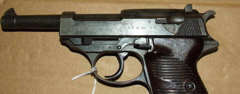 Walther P 38 Ac44 9mm Pistol Baer Auctioneers Realty Llc