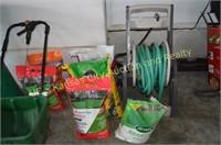 Lawn Fertilizer, Garden Hose & Reel, Miracle Grow,
