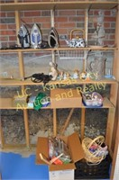 Clothes Irons, Sewing Supplies, Decorative Items.