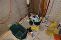 Ladder, Mop Bucket, Cleaning Items