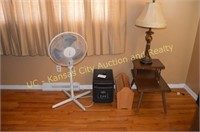 End Table, Heater, Fan, Magazine Stand,