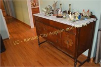 Antique Buffet, Figurines and Decorations