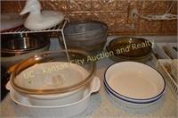 Kitchen Bowls, Baking Dishes, Pans, Flatware, etc.