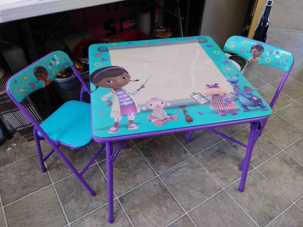 Doc Mcstuffins Table 2 Chairs Toodle Loo Auctions