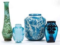 Selection of cameo glass