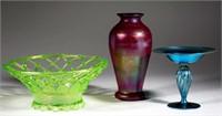 Selection of American Art Glass including a rare Fenton Karnak vase