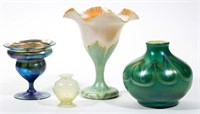 Good selection of American art glass, including Tiffany and Quezal