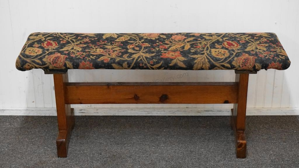 Fine Custom Pine Framing Wood Upholstered Bench Trinity Auction Pabps2019 Chair Design Images Pabps2019Com