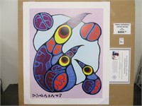 FAMILY OF BIRDS-PRINT BY NOVAL MORRISSEAU