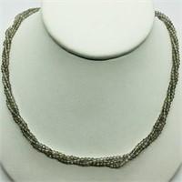 Silver Moonstone (35ct) Necklace