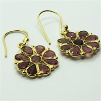 Gold Plated Silver Tourmaline  Earrings