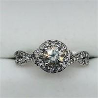 10K White Gold Diamond (G-H, I1, 0.45ct) Ring
