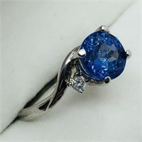 10K White Gold Tanzanite (1.75ct) Ring