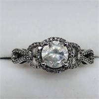 14K White Gold Diamond (1.02ct) Diamond (0.16ct)