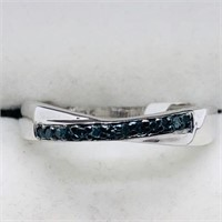 Silver Blue Diamond  Ring
