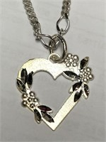 Silver Heart Shaped Pendant.