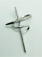 Silver Cubic Zirconia  Pendant