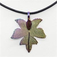 Multi Color Natural Leaf  Necklace
