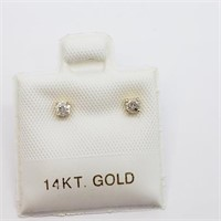 14K Yellow Gold Diamond Stud (0.16ct) Earrings