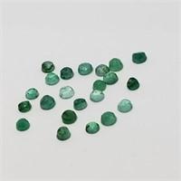Genuine Assorted Emerald (Round Cut)(2ct)