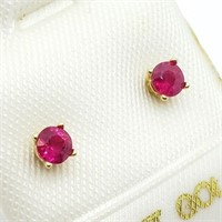 14K Yellow Gold Ruby Stud(0.25ct) Earrings