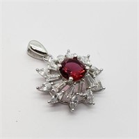 Silver Cubic Zirconia Ring, Earring And Pendant