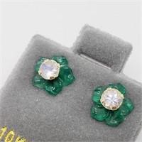 10K Yellow Gold Moonstone 2 In 1(0.36ct) Earrings
