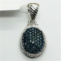 Silver Blue Diamond (0.5ct) with Fashion Cord