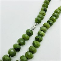 Silver Jade Briolette Beads Necklace