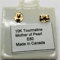 10K Yellow Gold Tourmaline Earrings