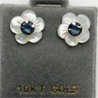 10K Yellow Gold Sapphire(0.46ct) Earrings