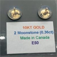 10K Yellow Gold Moonstone(0.36ct) Earrings