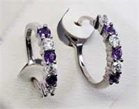 Sterling Silver Natural Amethyst (February