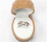 Sterling Silver CZ Ring (4.1 grams)