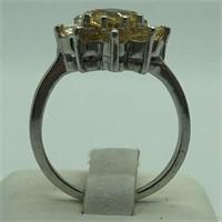 Sterling Silver Citrine Ring