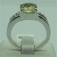 Sterling Silver Lemon Quartz Ring.
