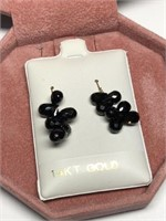 14KYellow Gold Onyx(15cts)  Earrings