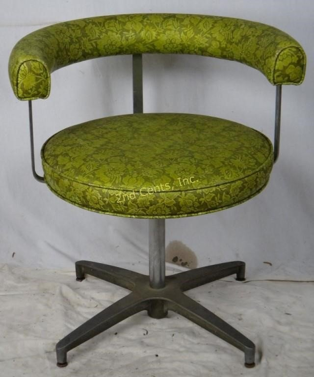 Groovy Vtg Brody Rare Round Vinyl 60S Swivel Chair 2Nd Cents Inc Gmtry Best Dining Table And Chair Ideas Images Gmtryco