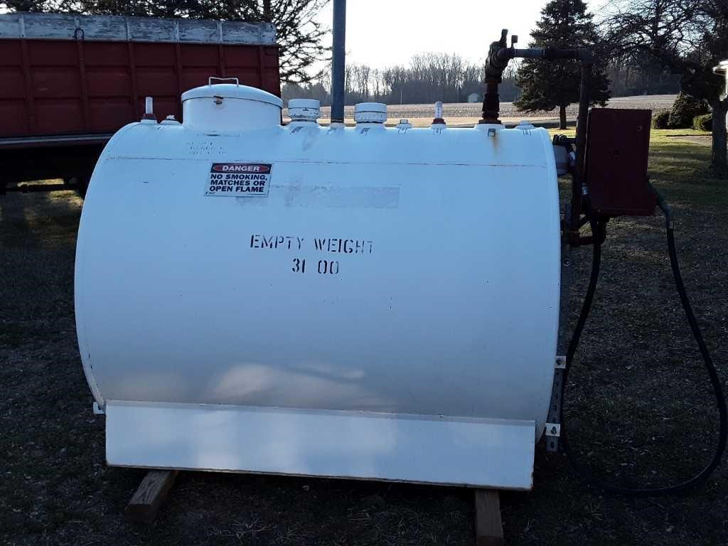 500 Gallon Fire Proof Diesel Tank Whalen Realty Auction Ltd